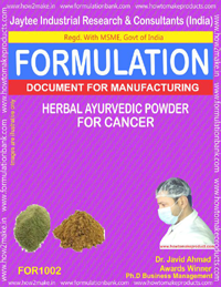 Formula for Herbal Ayurvedic Powder for Cancer (for 1002)