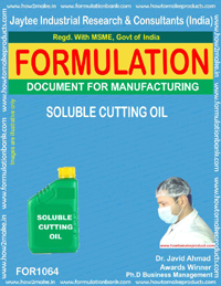 Formula for Soluble Cutting Oil (for 1064)