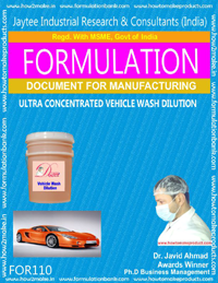 Ultra Concentrated Vehicle Wash Dilution