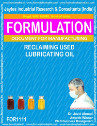 Reclaiming Used Lubricating Oil (For 1111)