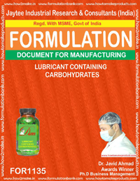 Lubricant Containing Carbohydrates (for1135)