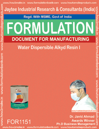Water dispersible alkyd resin I Formulation (for1151)