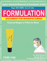 Coloured Stopper or Fillers for Wood Formulation (FORMULA 1156)