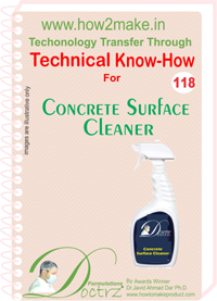 Technical Know-How Report for Concrete Surface Cleaner (TNHR118)