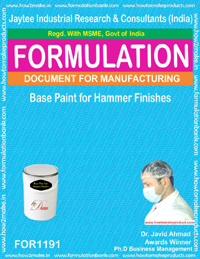Base Paint for Hammer Finishes Formulations (for 1191)