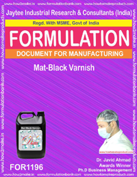 Mat-Black Varnish Formulation (for1196)