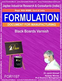 Black Boards Varnish Formulation (for1197)