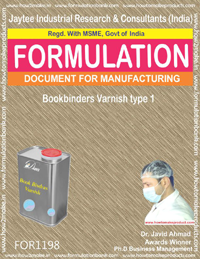 Bookbinders Varnish type 1 Formulation (for1198)