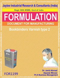 Bookbinders Varnish type 2 Formulation (for1199)