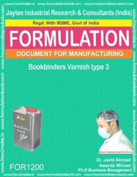 Bookbinders Varnish type 3 Formulation (for1200)
