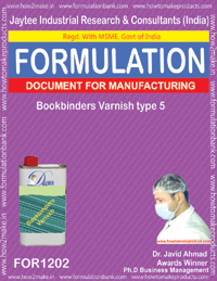 Bookbinders Varnish type 5 Formulation (1202)