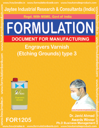 Engravers Varnish (Etching Grounds) type 3 Formulation (1205)