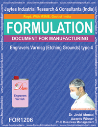 Engravers Varnish (Etching Grounds) type 4 Formulation (1206)