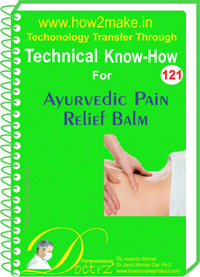 Technical Know-How Report for Ayurvedic Pain Relief Balm (TNHR1