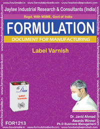 Label Varnish Formulation (for1213)