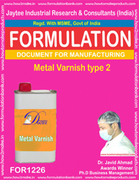 FORMULA OF METAL VARNISH VARNISH TYPE 2 (FOR 1226)