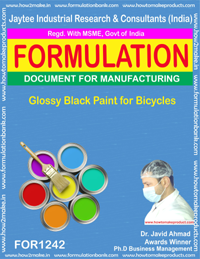 Glossy Black Paint for Bicycles Formulation (for1242)
