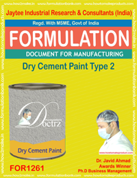 Dry Cement paint type 2 Formulation (for1261)