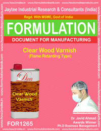 Clear Wood Varnish (Flame Retarding Type) Formulation (for1265)