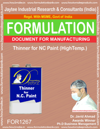 Thinner for NC Paint (HIgh temp.) (for1267)