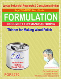 Thinner for Making Wood Polish from Seedlac Formula (for1270)