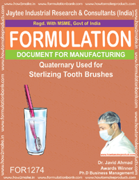 Quaternary disinfectant fo tooth brush sterilization( FOR 1274)
