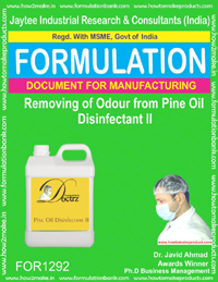 Removing of odour from pine oil disinfectant II (FOR 1292)
