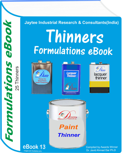 Thinners Manufacturing Formulations eBook( eBook13)