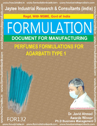Perfume Formulation For Aggarbatti Type 1