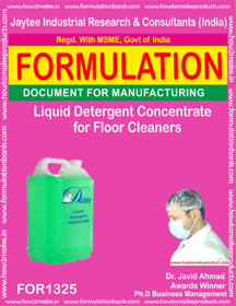 Liquid Detergent Concentrate for Floor Cleaner (FOR1325)