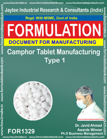 Camphor Tablet manufacturing Type 1 (FOR 1329)