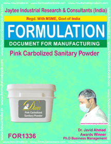 Pink carbolised sanitary powder formula (Formula 1336)