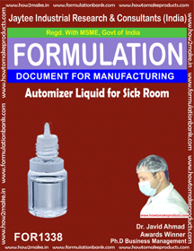 Automizer liquid for sick room disinfection (for 1338)
