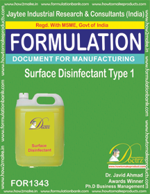 Surface Disinfectant formula (for 1343)
