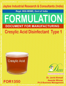 Cresylic acid Disinfectant formula 1 (for 1350)