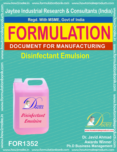Disinfectant emulsion making formulation(FOR1352)