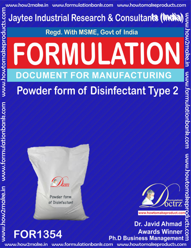 Disinfectant powder form type 2 (FOR1354)