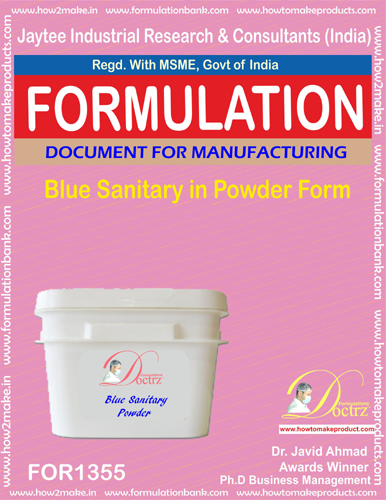 Blue sanitary powder formula(FOR 1355)