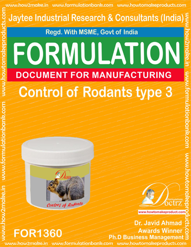 Rodents Control product Formulation type 3(FOR1360)