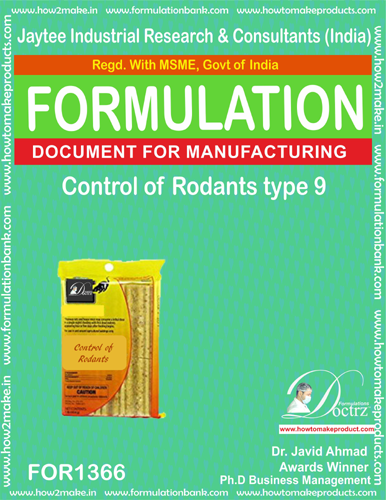 Rodents Control product Formulation type 8 (FOR1366)