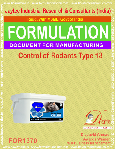 Rodents Control product Formulation type 13 (FOR1370)