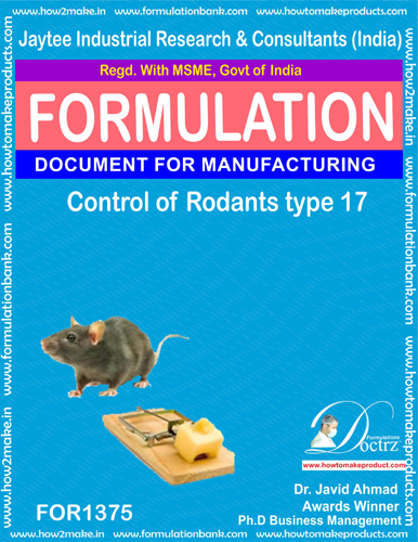 Rodents Control product Formulation type 17 (FOR1375)