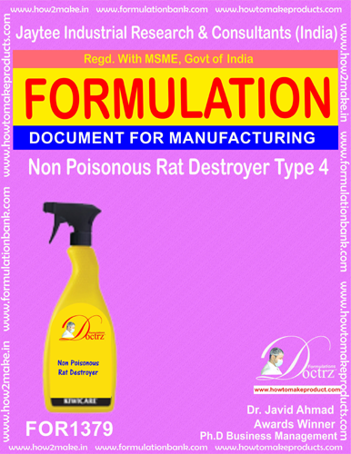 Non Poisonous Rat Destroyer Product Formula 4 (FOR 1379)