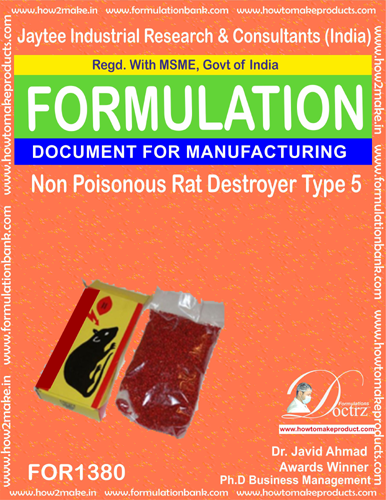 Non Poisonous Rat Destroyer Product Formula 5 (FOR 1380)