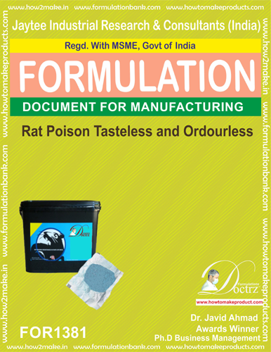 Tasteless and Odorless Rat Poison Formulation 1(FOR 1381)