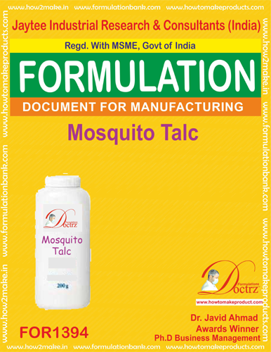 Formula of mosquito repellent talc powder (FOR1394)