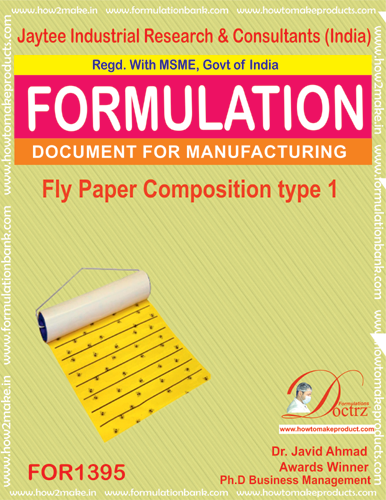 Fly destroyer sticky paper composition type 1(FOR1395)