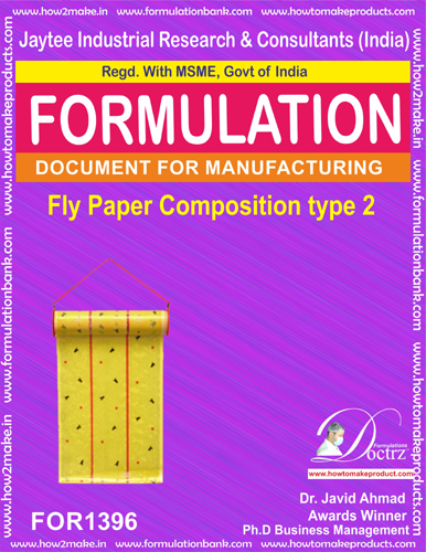 Fly destroyer sticky paper composition type 2(FOR1396)