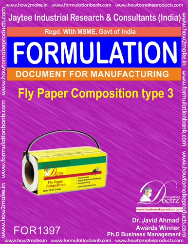 Fly destroyer sticky paper composition type 3(FOR1397)