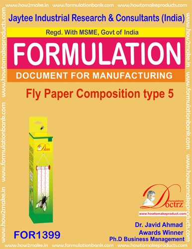 Fly destroyer sticky paper composition type 5(FOR1399)